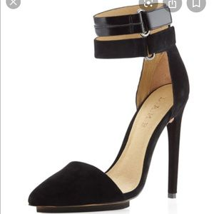 LAMB Oxley Black Suede Pumps